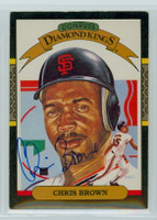 Chris Brown AUTOGRAPH d.06 1987 Donruss Giants Diamond King 
