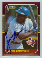 Jerry Browne AUTOGRAPH 1987 Donruss Rangers Opening Day 