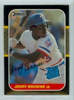 Jerry Browne AUTOGRAPH 1987 Donruss Rangers 