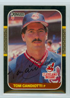 Tom Candiotti AUTOGRAPH 1987 Donruss Indians 