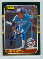 Jim Clancy AUTOGRAPH 1987 Donruss Blue Jays LEAF 