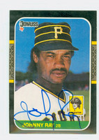 Johnny Ray AUTOGRAPH 1987 Donruss Pirates 