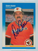 Don Aase AUTOGRAPH 1987 Fleer #461 Orioles 