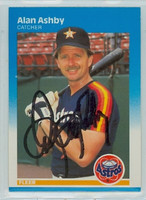 Alan Ashby AUTOGRAPH 1987 Fleer #50 Astros 