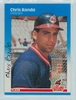 Chris Bando AUTOGRAPH 1987 Fleer #243 Indians 