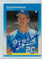 Scott Bankhead AUTOGRAPH 1987 Fleer #363 Royals ROOKIE 