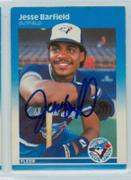 Jesse Barfield AUTOGRAPH 1987 Fleer #219 Blue Jays 
