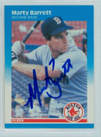 Marty Barrett AUTOGRAPH 1987 Fleer #27 Red Sox 