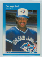 George Bell AUTOGRAPH 1987 Fleer #220 Blue Jays 