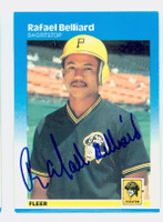 Rafael Belliard AUTOGRAPH 1987 Fleer #602 Pirates 