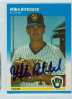 Mike Birkbeck AUTOGRAPH 1987 Fleer UPDATE #5 Brewers 