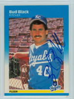 Bud Black AUTOGRAPH 1987 Fleer #365 Royals 