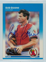 Bob Boone AUTOGRAPH 1987 Fleer #73 Angels 