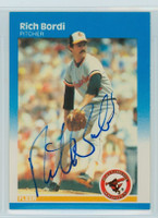 Rich Bordi AUTOGRAPH 1987 Fleer #465 Orioles 