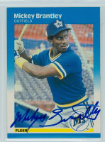 Mickey Brantley AUTOGRAPH 1987 Fleer #582 Mariners 