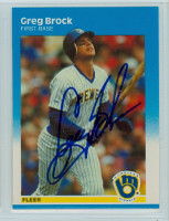 Greg Brock AUTOGRAPH 1987 Fleer UPDATE #437 Brewers 