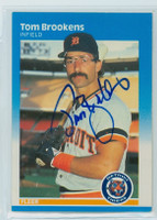 Tom Brookens AUTOGRAPH 1987 Fleer Tigers#145 
