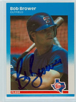 Bob Brower AUTOGRAPH 1987 Fleer UPDATE #10 Rangers 