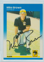Mike C. Brown AUTOGRAPH 1987 Fleer #607 Pirates 