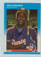 Jerry Browne AUTOGRAPH 1987 Fleer UPDATE #12 Rangers 