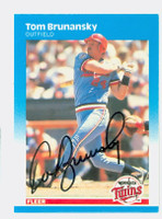 Tom Brunansky AUTOGRAPH 1987 Fleer #537 Twins 