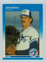 Jim Clancy AUTOGRAPH 1987 Fleer #223 Blue Jays 