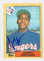 Jerry Browne AUTOGRAPH 1987 Topps #11 Rangers TRADED 