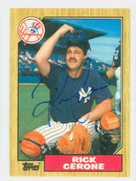 Rick Cerone AUTOGRAPH 1987 Topps Yankees TRADED 