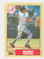 Henry Cotto AUTOGRAPH 1987 Topps #174 Yankees   [SKU:CottH9148_T87BBNYjl]