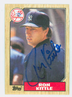 Ron Kittle AUTOGRAPH 1987 Topps #584 Yankees 