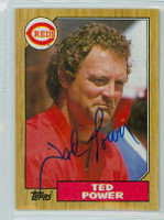 Ted Power AUTOGRAPH 1987 Topps #437 Reds 