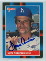 Dave Anderson AUTOGRAPH 1988 Donruss Dodgers   [SKU:AndeD6050_DON88BB]