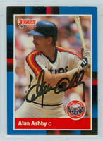 Alan Ashby AUTOGRAPH 1988 Donruss Astros 