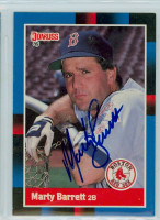 Marty Barrett AUTOGRAPH 1988 Donruss Red Sox 