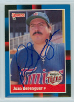 Juan Berenguer AUTOGRAPH 1988 Donruss Twins 