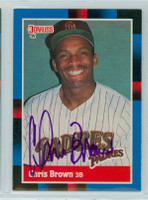 Chris Brown AUTOGRAPH d.06 1988 Donruss Giants 
