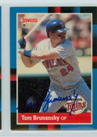 Tom Brunansky AUTOGRAPH 1988 Donruss Twins 