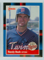 Randy Bush AUTOGRAPH 1988 Donruss Twins 
