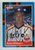 Rocky Childress AUTOGRAPH 1988 Donruss Astros 