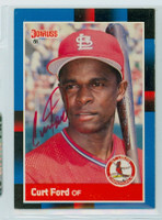 Curt Ford AUTOGRAPH 1988 Donruss Cardinals 