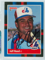 Jeff Reed AUTOGRAPH 1988 Donruss Expos 