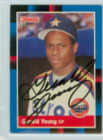 Gerald Young AUTOGRAPH 1988 Donruss Astros 