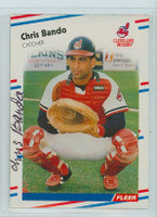 Chris Bando AUTOGRAPH 1988 Fleer Indians 