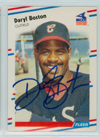 Daryl Boston AUTOGRAPH 1988 Fleer White Sox 