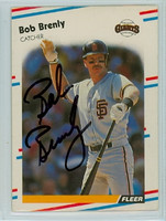 Bob Brenly AUTOGRAPH 1988 Fleer Giants 