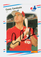Casey Candaele AUTOGRAPH 1988 Fleer Expos 