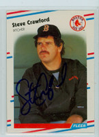 Steve Crawford AUTOGRAPH 1988 Fleer Red Sox 