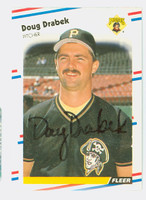 Doug Drabek AUTOGRAPH 1988 Fleer Pirates 