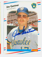 Jim Gantner AUTOGRAPH 1988 Fleer Brewers 