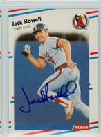 Jay Howell AUTOGRAPH 1988 Fleer Athletics 